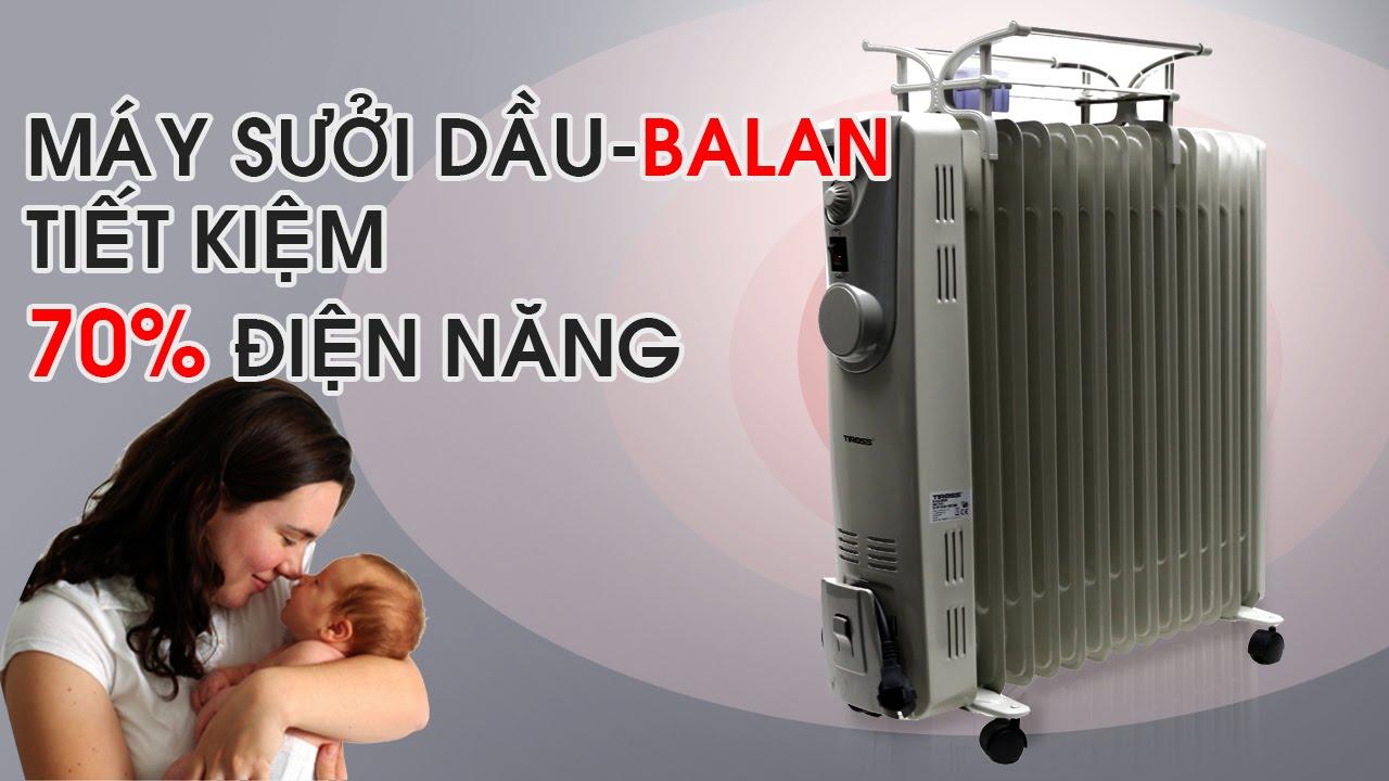 Cách dùng máy sưởi dầu tiết kiệm điện
