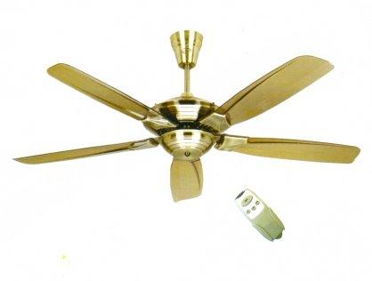 Quạt trần điện cơ 5 cánh màu vàng đồng